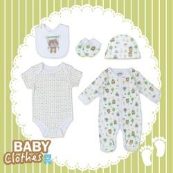 Infants 5pcs set little bear 100% Cotton (Pre-order offers)