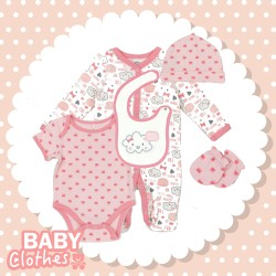 Infants 5pcs set little cloud 100% Cotton (Pre-order offers)