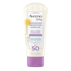 Aveeno CONTINUOUS PROTECTION SENSITIVE SKIN LOTION ZINC OXIDE SUNSCREEN 88ml
