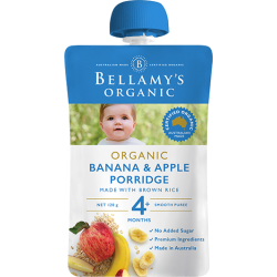 BELLAMY'S ORGANIC BANANA & APPLE PORRIDGE 120G 4M+