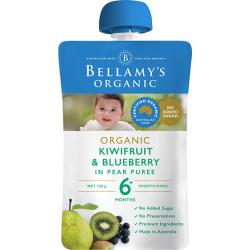BELLAMY'S ORGANIC KIWIFRUIT & BLUEBERRY 120g 6M+