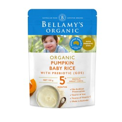 Bellamy's Organic Pumpkin Baby Rice 125g 5M+