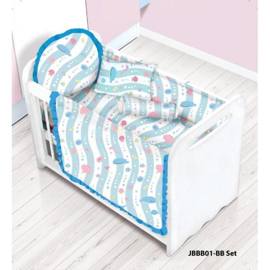 **Self pick by cash $599** [Official Goods] Cherry 100%Cotton Baby Bedding Set (12pcs) JBBB01