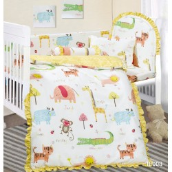 Cherry 100%Cotton Cartoon Baby Bedding Set (12pcs) IF008