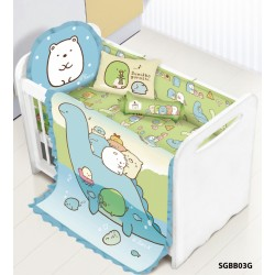 **Self pick by cash $499** [Official Goods] Cherry 100%Cotton Sumikko Gurash Baby Bedding Set (12pcs) SGBB03
