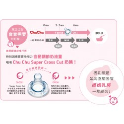 ChuChu Standard Neck Silicone Rubber Teats (Suitable for all ages) 3pcs