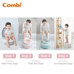 Combi Step Up Potty 1Y+ (Gray)