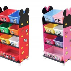 Disney Kid Storage Rack with Container (4 Shelves) **Self pick by cash $499**