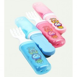 Edison Pororo All-in-one Spoon &Fork Set With Cover 9M+