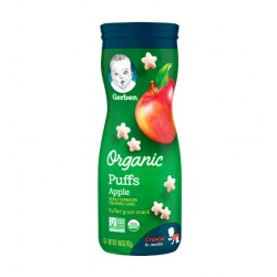 Gerber Organic Puffs Apple 42g 8M+