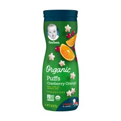 Gerber Organic Puffs Cranberry Orange 42g 8M+