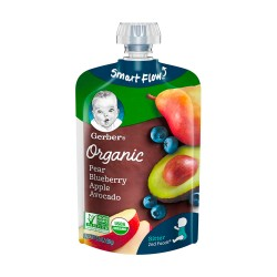 Gerber Organic Pear Blueberry Apple Avocado 99g 6M+