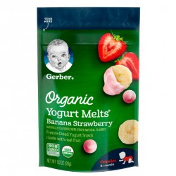 Gerber Organic Yogurt Melts Banana Strawberry 28g 8M+