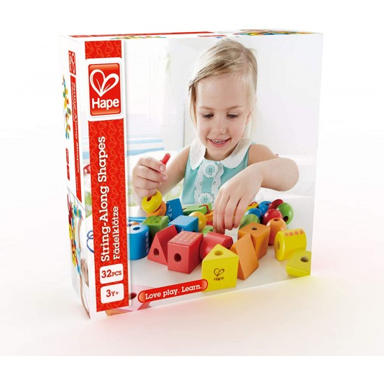 Hape String Along Shapes (32pcs) 3Y+