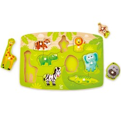 Hape Jungle Peg Puzzle  (10pcs) 24M+