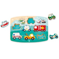 Hape Emergency Peg Puzzle  (10pcs) 24M+