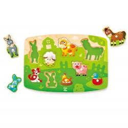 Hape Farmyard Peg Puzzle  (10pcs) 24M+