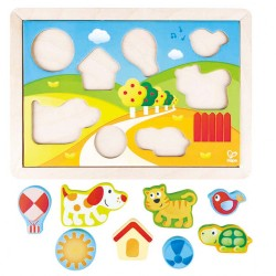 Hape Sunny Valley Puzzle 3 in 1 (12pcs) 12M+