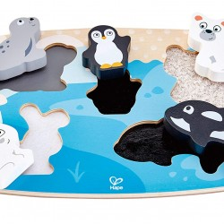 Hape Polar Animal Tactile Puzzle  (6pcs) 24M+