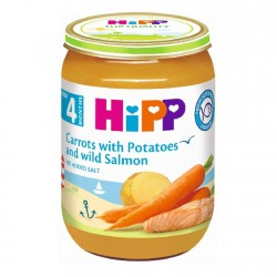 HiPP Organic Baby Carrots with Potatoes and Salmon 190g 4M+