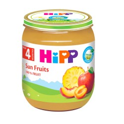 [Official Goods] HiPP Organic Sun Fruits 125g 4M+