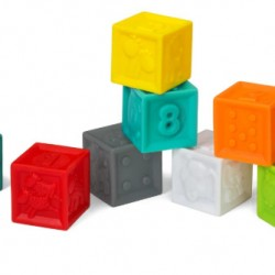 infantino Squeeze & Stack Block Set 6M+ (8pcs)
