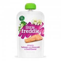 Little Freddie Organic Atlantic Salmon with Broccoli & Cauliflower 120g 7M+