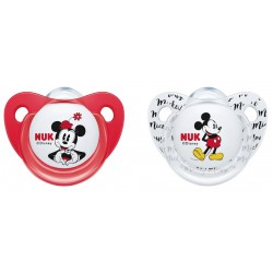 NUK Minnie Mouse Silicone Soother 0-6M / 6-18M (2pcs)