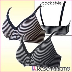 Rosemadame 100%Cotton Stripe Lace Nursing Bra M~LL 1120600
