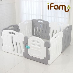 iFam Shell Baby Room (S) 133 x 133 x 60cm (Gray/Blue/Pink) IF-056-02