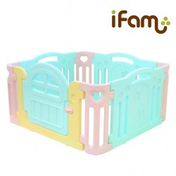 iFam Marshmallow Baby Room 125 x 125 x 64.5cm (Mint/Pink/Brown)