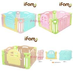 iFam Marshmallow Baby Room 125 x 125 x 64.5cm (Mint/Pink/Brown) IF-423-01