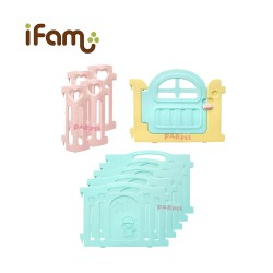 iFam Marshmallow Baby Room (Mint) + Panels (2pcs) 208 x 123 x 64.5cm