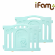 iFam Marshmallow Baby Room (Mint) + Panels (2pcs) + RUUN Double-sided Playmat (Mint&Pink/Orange) Set