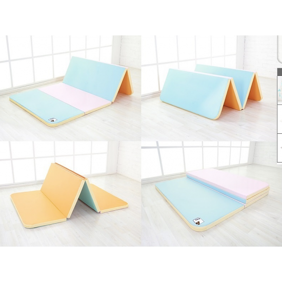 iFam RUUN Marshmallow Double-sided Playmat 200cm X 115cm X 4cm (Mint&Pink/Orange)