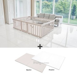 iFam Birch Baby Room + RUUN Birch Double-sided Playmat Set
