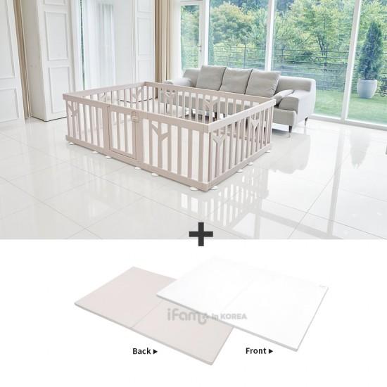 iFam Birch Baby Room + RUUN Birch Double-sided Playmat Set