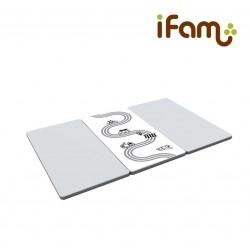 iFam RUUN Mono Gray Road Double-sided Playmat (M) 189 x 125 x 4cm (Gray&White) RU-9S