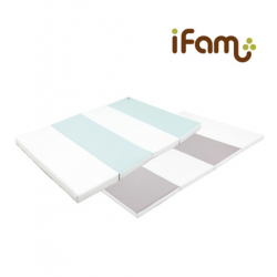 [Official Goods] iFam RUUN Shell Playmat Mint/Grey 237x141x4cm (L)